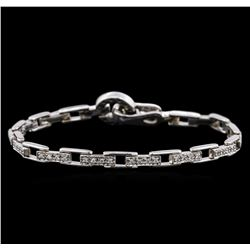 14KT White Gold 0.72 ctw Diamond Bracelet