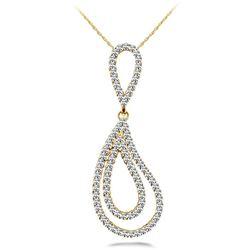 18k Gold 0.72CTW Diamond Pendant, (SI2/H-I)