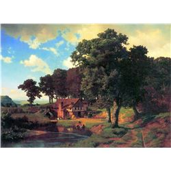 A Rustic Mill by Albert Bierstadt