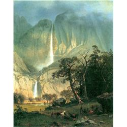 Cho-Looke, Yosemite Waterfall by Albert Bierstadt