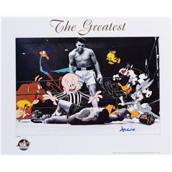Muhammad Ali 'The Greatest' signed limited edition lithograph.