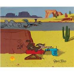 Chuck Jones (2) limited edition cels entitled 'I Think Therefore I Acme' and 'Acme Roadrunner Spray'