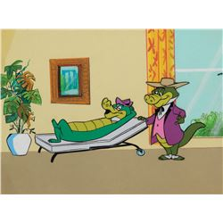 'Wally Gator' and 'Colonel Zachary' production cel from Wally Gator episode 52: 'Carpet Bragger'.