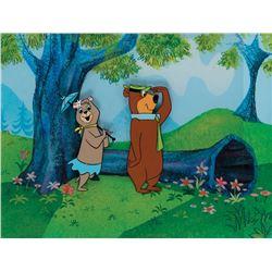 'Yogi Bear' and 'Cindy Bear' production cels on a production background from The Yogi Bear Show.