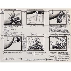Alex Toth (2) storyboard production drawings of 'Superman' and 'Wonder Woman' for Super Friends.