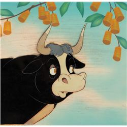 'Ferdinand' production cel on a Courvoisier airbrush background from Ferdinand the Bull.