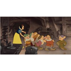 Snow White and the Seven Dwarfs limited edition entitled 'Off to Bed'.