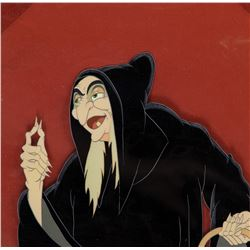 'Evil Witch' production cel from Snow White and the Seven Dwarfs.
