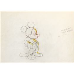 'Mickey Mouse' production drawing from the 'Sorcerer Mickey' segment of Fantasia.