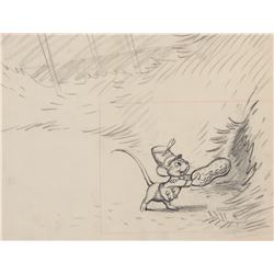 'Timothy Mouse' production layout drawing from Dumbo.