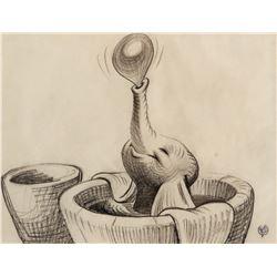 'Dumbo' Bath Scene storyboard drawing from Dumbo.