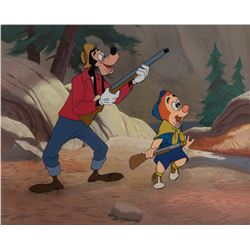 'Goofy' and 'Son' production cels on a matching production background from Father's Lion.