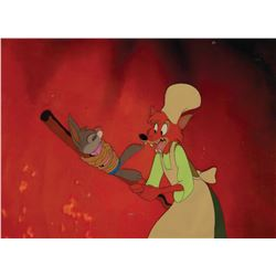 'Br'er Fox' and Br'er Rabbit' production cel with matching print background from Song of the South.