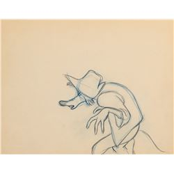 Milt Kahl production drawing of 'Br'er Fox' from Song of the South.