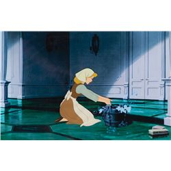 'Cinderella' production cel with matching print background from Cinderella.