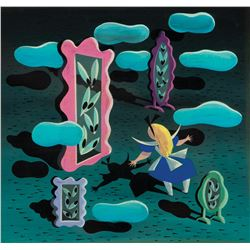 Mary Blair concept painting of 'Alice' from Alice in Wonderland.