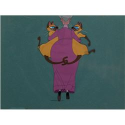 'Si' and 'Am' with 'Aunt Sara' production cel from Lady and the Tramp.