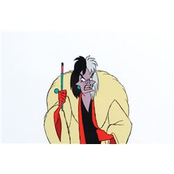 'Cruella de Vil' production cel from 101 Dalmatians.