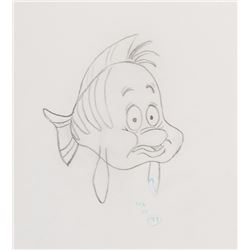'Flounder' (10) sequential production drawings from The Little Mermaid.