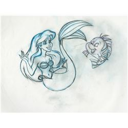 The Little Mermaid (3) concept production drawings featuring 'Ariel' and 'Flounder'.