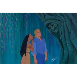 Ron Dias color model cel of 'Pocahontas' and 'John Smith' from Pocahontas.