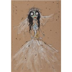 Corpse Bride (4) concept paintings featuring 'Emily, The Corpse Bride', 'Victor Van Dort', & more.
