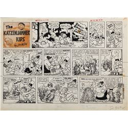 Joe Musial The Katzenjammer Kids comic strip artwork.