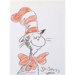 Dr. Seuss drawing of 'The Cat in the Hat'.