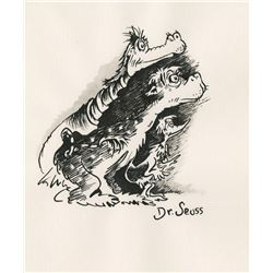 Dr. Seuss drawing of three creatures.