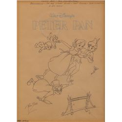 Ron Dias illustration drawing for the cover of a Peter Pan Golden Book.