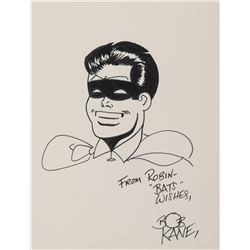 Bob Kane drawing of 'Robin'