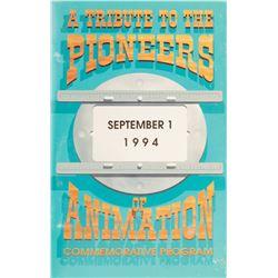 'Pioneers of Animation Commemorative Program' featuring (26) animator signatures.