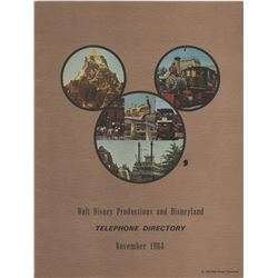 Early Walt Disney Productions (3) Annual Reports and (2) Telephone Directories.