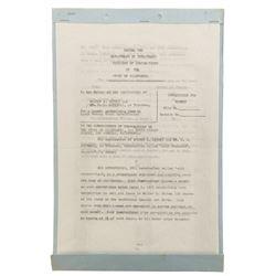 Walt Disney twice-signed contract.