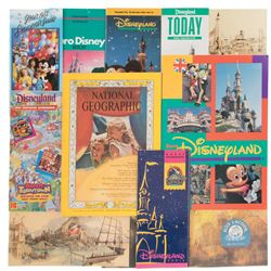 Disneyland Guide Pamphlets, Postcards and related items.