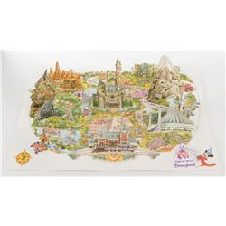 Disneyland maps, mini attraction posters, and signed prints.