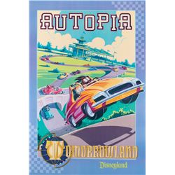 Autopia attraction poster from Disneyland.