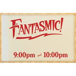 'Fantasmic!' park signfrom Disneyland.
