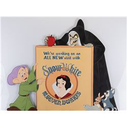 Snow White's Scary Adventure attraction refurbishment sign from Disneyland.