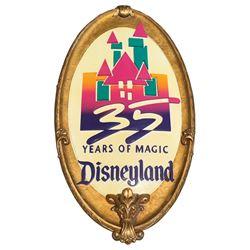 Disneyland'35 Years Of Magic' anniversary park sign.