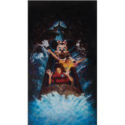 Disneyland Splash Mountain original illustration art featuring 'Minnie Mouse'.