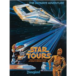 Disneyland Star Tours (10) attraction posters and related items.