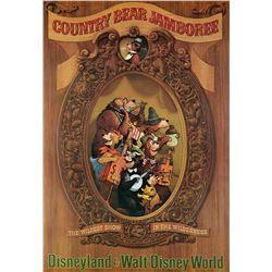 Country Bear Jamboree original hand-silk screened attraction poster from Disneyland.