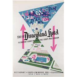 Disneyland Hotel original hand-silk screened poster.
