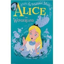 Alice in Wonderland attraction poster from Disneyland.