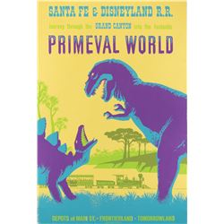 Primeval World attraction poster from Disneyland.