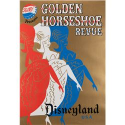 Golden Horseshoe Review attraction poster from Disneyland.