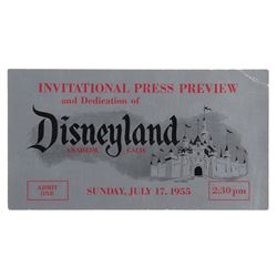 Disneyland opening day press preview ticket (silver).