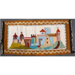 Rug, Decorative of European Village  83512