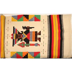 "Large Mexican Blanket /  "" Medicine Man""  109599"